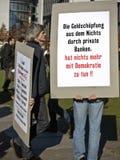 10 15 2011 berlin upptar protest Fotografering för Bildbyråer