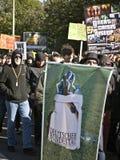 10 15 2011 berlin upptar protest Royaltyfri Fotografi