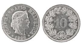 10 1990 helvetica confoederatio rappen Royaltyfri Bild
