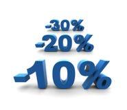 10-20-30% - isolated illustration. 10-20-30% - isolated 3D render illustration vector illustration