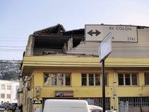 10 2010 землетрясений valparaiso -го Чили февраль стоковая фотография rf