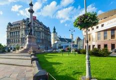 10 2012年城市lviv可以场面乌克兰 库存图片