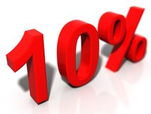 10 % photographie stock