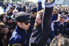 10 28 2011年雅典希腊游行拒付 库存图片