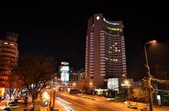 Место 10 ночи Бухареста Стоковое Изображение