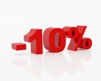 проценты 10 Стоковое Изображение