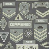 无缝的军事样式10 免版税图库摄影