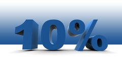 10% Photographie stock