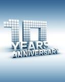 10 años de aniversario Fotos de archivo