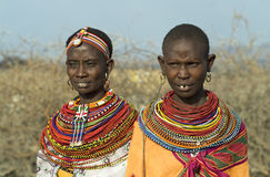 10 afrikanska folk Arkivbild