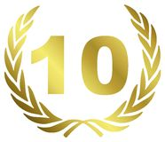 10 Anniversary. Illustration with laurel wreath Stock Images