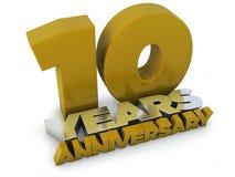 10 anos de aniversário Fotos de Stock
