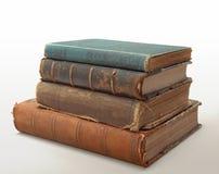 10 antieke Boeken Royalty-vrije Stock Afbeeldingen