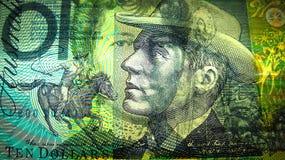 10 australische Dollar Nahaufnahme Stockfoto