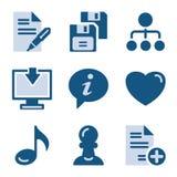 10 błękit ikony set Fotografia Stock