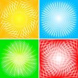 10 bakgrundsstrålar eps Arkivbild