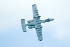 A-10 blikseminslag II in Singapore Airshow 2010 Stock Afbeelding