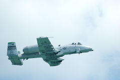A-10 blikseminslag II in Singapore Airshow 2010 Royalty-vrije Stock Afbeelding