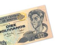 10 bolivianos de Pesos Imagen de archivo libre de regalías
