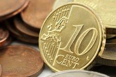 10 cent euro Fotografering för Bildbyråer