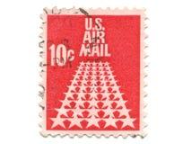10 cent gammal portostämpel USA Arkivbild
