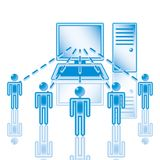 10. Computer Network in blue. Stock Image