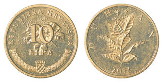 10 croatian lipa coin Royalty Free Stock Images