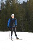 10 de esquí Imágenes de archivo libres de regalías