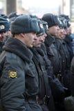 10 de marzo de 2012. Formación de la policía Foto de archivo libre de regalías