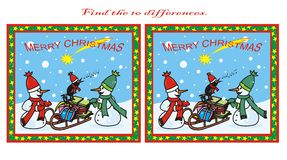 10 differences, Christmas Stock Image