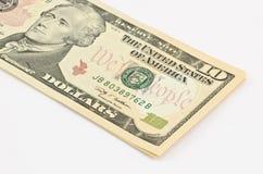 10 Dollar Stockfoto