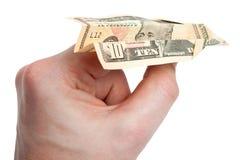 10 Dollar-Flug Lizenzfreies Stockbild