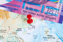 10 dollar hk Royaltyfria Foton