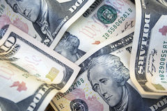 10 dollarsnota's Royalty-vrije Stock Afbeelding
