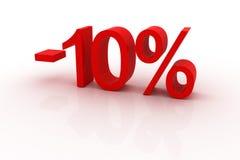 10 dyskontowych procentów Obrazy Stock