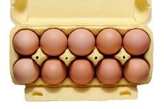 10 Eier. Stockfoto