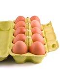 10 Eier im Paket Stockbild