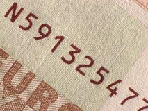10 euro. Banknote detail - micro print Royalty Free Stock Photography