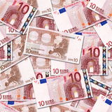 10 euro. Seamless color Euro wallpaper background Royalty Free Stock Photography