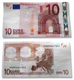 10 Euro. Hoofd en het omgekeerde Stock Foto's