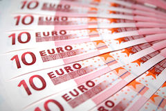 10 Euro notes Stock Images