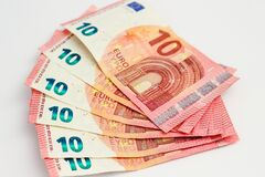 10 Euro notes Royalty Free Stock Image