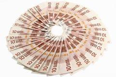 10 Eurorechnungen Lizenzfreies Stockbild