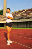 10 female field track 图库摄影