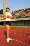 10 female field track Στοκ Φωτογραφία