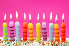 10 Geburtstagkerzen Lizenzfreies Stockbild