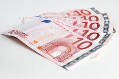 10 geplaatste euro Stock Afbeelding