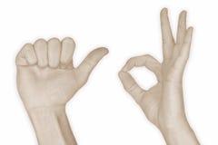 10 hand nummer tio Royaltyfria Foton