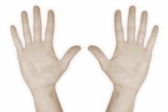 10 hand nummer tio Arkivfoto