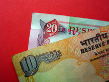 10 hindusów walut Fotografia Royalty Free